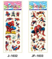 comic books - christmas gift spiderman stickers for children Comic Book super Heros classic toys D cartoon kids stickers party favors sheets