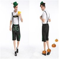 beer movie - New arrival Oktoberfest Costume Men Lederhosen Bavarian Octoberfest German Festival Beer Halloween Costumes Plus Size XXL S