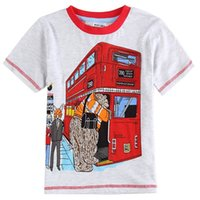 active bus - car styling children clothing boys t shirt printed bus cotton short sleeve o neck t shirts summer style kids clothes C6371