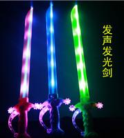 Wholesale Children s Day Gift Costume Dress Up Props LED Light Flash Gravity Sensing Music Kids Toy Sword for Children