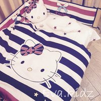 dyed fabric - Children s Bedding Sets Hello Kitty Style Australian wool reactive dyeing fabrics Baby bed set cute