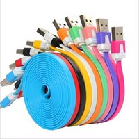 bag cord - 3 Ft Flat Noodle USB Charger Sync Data Cable Cord for samsung galaxy s4 s5 for all cellphone with opp bag