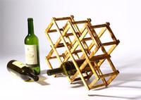 beer bottle display - Umiwe Creative Wine Holder Home Bar Beer Wine Stand Foldable Bottle Wooden Wine Rack Organizer Display Shelf