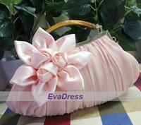Wholesale 2016 Michael Fashion Hobos Pink Handmade Flower Party Evening For Ladies Women s Crossbody Shoulder Handbags Clutch Bags