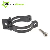 Wholesale RockBros Road Bike Front Derailleur Braze on Adapter Alloy Clamp Compatible with mm mm Bicycle Parts Black Silver