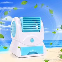 Wholesale Mini Fragrance USB Air Conditioning Fan Portable USB Battery Dual use Colored Cute Fan Desk Cooler Mute New Fashion Creative Design G0039