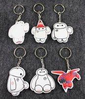 Wholesale 100pcs beast corps baymax key chain white fat doll key chain Keys pendant with pp cotton