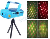 Wholesale Stage Lighting Mini Red Green Moving Party Stage Laser LED Light Projector backdrop with tripod laser DJ party disco light mW PAb