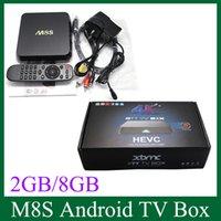 Wholesale M8S Amlogic S812 Quad Core TV Box H HEVC Android Dual Wifi GB GB KODI Pre installed APK ADD ONS OTH113