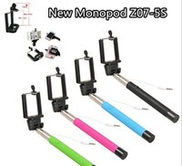 Wholesale Z07 S Extendable Handheld Monopod Audio cable wired Selfie Stick take photos for IOS Android smart phone