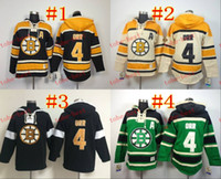jacket team - bruins bobby orr Red Hooded Sweatshirt Hockey Jackets New Style All Teams Outdoor Uniform size