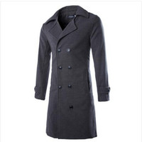 best mens overcoats - Fall best selling Autumn Winter Overcoat Men Solid Color Mens High Quality Long Jackets and Coats Double Breasted Wool Blends Male
