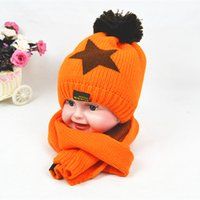 Wholesale Brand New Cute Six Colors Baby s Knitted Hat Scarf Sets Acrylic OPP Bag Packet