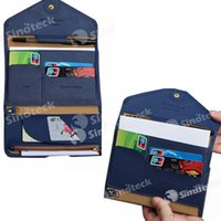 Wholesale Women Men Travel Credit Card Wallet Leather For Passports Packages Documents Holder ID Card Bag Color For Options Free DHL Fatory Direct