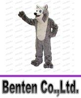 Acheter Adult mascot costume-Amical Husky Mascot Adult Costume Cartoon Taille Caractère costume de carnaval LLFA1034 fantaisie fête costumée