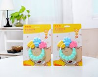 Wholesale Neonatal Grinding Baby Teether Teething Baby Essentials Massager Infant Training Tooth Cute Toddler Bell Toys