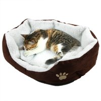 Wholesale Dog Puppy Cat Soft Warming Bed Fleece Warm House Kennel Plush Mat Warm Winter Nest for Pet Products Colors Casa