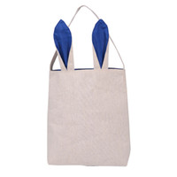 Wholesale New Arrival Easter Bunny Bag celebration gifts easter hare gifts cotton canvas handbags shopping bag easter gift