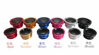 Wholesale 3 in Camera Cell Mobile Phone Lens For iPhone fish eye iphone s Fisheye Lens Wide Angle Macro