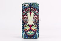 arrival animal skins - Luxury D Printing Animal Case for Apple iphone s hard cases for iphone5 new arrival back cover skin PY