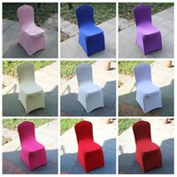 Cheap In stock colorful Polyester Spandex Wedding Chair Covers for Weddings Banquet Folding Hotel Decoration Decor wedding chair covers