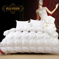 Wholesale Hot sale comforter New designer goose down filled white pink duvet Egyptian cotton shell twin queen king bedding quilts