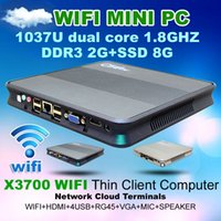 os mini terminal - Network cloud terminal X3700 WIFI RAM G SSD G Thin client video Mini pc support Win7 WIN8 OS HTPC Home Computer with Dual Core