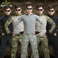 achat en gros de équipement de paintball-11 couleurs de chasse vêtements airsoft costume de camouflage militaire unfirom équipement de paintball vêtements militaires combat chemise d'uniforme