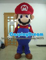 Wholesale Super Cheap Mascot Costumes - Wholesale-Advertising Mascot Cheap Adult Size Super Mario Mascot Costumes High Quality Animal Mascot Customized Carnival Mascot Costumes