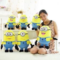 Wholesale 3pcs set CM D Despicable ME Movie Plush Toys Minion Jorge Stewart Dave For Baby Kids Christmas Gift
