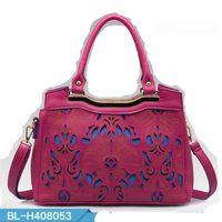 large handbags - 2015 Women s Leather Handbag Brief Large Capacity Shoulder Bag Hollow Carve Luxury Bags For Women