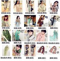 Wholesale 2015 New cm Fashion Autumn Vintage Silk Scarves Women Casual Gorgeous Print Scarf Shawl Wrap Color