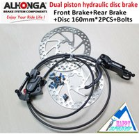 alhonga brakes - ALHONGA HJ OD04 Black MTB Hydraulic Disc Red Brake system Bicycle Oil Press Disc Brake system mm with Rotor and Bolts