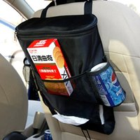 Wholesale Car Cooler Bag Seat Organizer Multi Pocket Arrangement Bag Back Seat Chair Car Styling Car Seat Cover Organizer IQ0005 smileseller