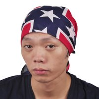 Wholesale Civial War Flag Print Bandanas Confederate Rebel Flag Headbands Fashion Hiphop Headbands CM
