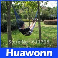Wholesale Nylon Hammock Hanging Bed Mesh Net Outdoor Camping For Single color option Freeshipping