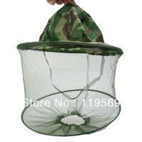 fly mask - Camouflage Fishing mosquito Hat Net Mask Fly Insect Mosquito Bee