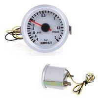 Wholesale Car quot mm BAR Turbo Boost V Vacuum Auto Car Press Gauge Meter With Blue LED Light
