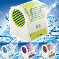 appliance outlet - Portable Hand held USB Mini Cool Fan with two outlet Air Conditioning home Appliances with fragrance ice slot Desktop electric fan