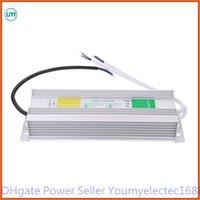 al por mayor 12v dc regleta resistente al agua-60-80-100W AC a DC 12V controlador electrónico de uso al aire libre impermeable de la fuente de alimentación del adaptador transformador llevado tira IP67 de la luz bajo el agua