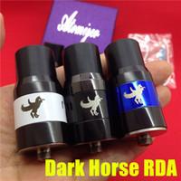 brass horse - Dark Horse RDA giftbox clone Atomizer white blue Brass Black copper mm for ego cigarette mods vs little boy plume veil atty doge