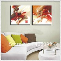 ballerina canvas painting - New Arrivals Handmade Modern Canvas Oil Painting Wall Art Ballerinas zsh2p001