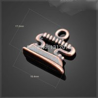 antique iron clamp - Charms Pendants Alloy Metal Antique Copper X17 mm Electric iron pendant Jewelry YZ