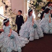 beautiful pictures kids - Amazing Beautiful Flower Girls Dresses For Weddings Appliques Ball Gown Princess Formal Kids Wear For Party Toddler First Communion Dress