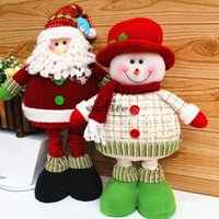 best friend ornaments - New Arrival Santa Claus Snowman Doll For New year Ornament Christmas Decoration Gift Best Gifts for Friend High Quality