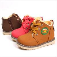 Wholesale Size New Winter Warm Kids Boots Fashion Plus Velvet Boys Girls Shoes Children Snow Boots