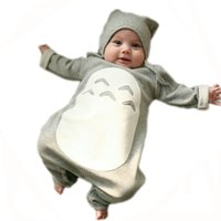 Wholesale Cartoon Baby Clothes Bodysuit Baby Costume Totoro Girl Boy Infantil Christmas Clothes Winter Clothing Kids Pajama Jumpsuit HK951