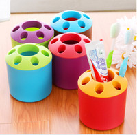 Wholesale Cute Toothbrush Case Multi function Cylinder Multipurpose Toothpaste Holder