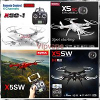 Cheap DHL Original syma drone aircraft remote control WIFI x5c x5sc x5sw FPV helicopter big x5c quadcopter toys HD cameras 2MP 2.4G 6-Axis