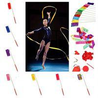 sports ribbon - 4M Rhythmic gymnastics ribbons wands sports dance long ribbons streamers sticks magic wands confetti Sporting Performing arts props Gifts
